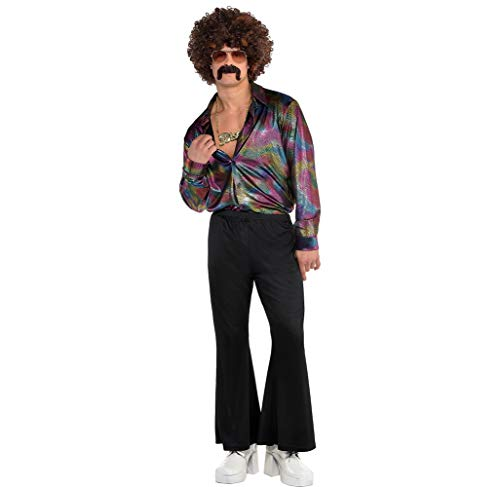 AMSCAN Disco Halloween Shirt for Men, One Size