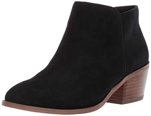 Amazon Essentials Women's Aola Ankle Boot, Black, 10 B US