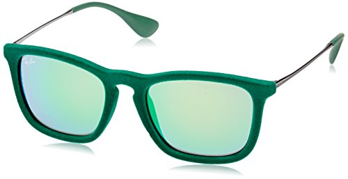 Ray-Ban CHRIS - FLOCK GREEN Frame GREEN MIRROR GREEN Lenses 54mm - Lens Ban Green Ray