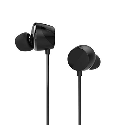 Tunai Drum Hi-Resolution Audiophile in-Ear Earbud Headphones – Powerful Bass and Lively Sound Stage with Improved Noise Isolation; Comfortable for Workout, Running and Great for Gaming (Shadow Black