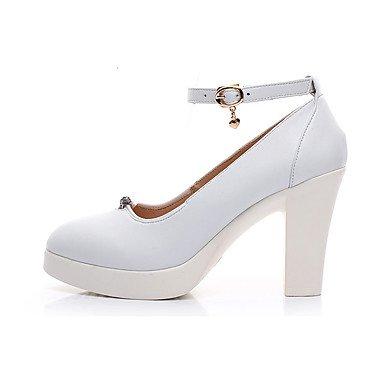 cm Blanc amp; Chaussures Décontracté formelles Femme Noir à white plus formelles 12 ggx Gros Printemps Automne Chaussures Talons LvYuan Chaussures Cuir Talon FqAZAU