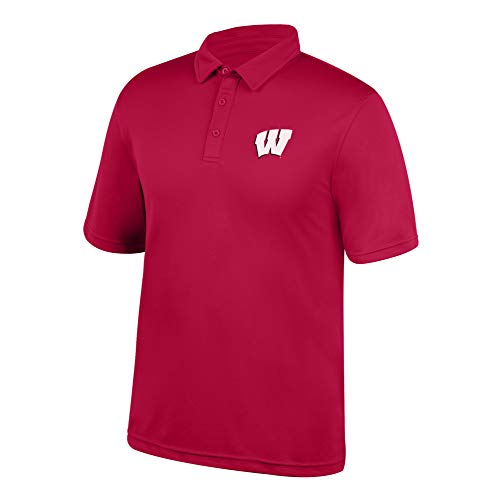 Top of the World Wisconsin Badgers Polo, True Red, X Large