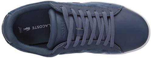 Lacoste Evo Carnaby White Dark Textile Sneaker Women's Blue RAqRfUw