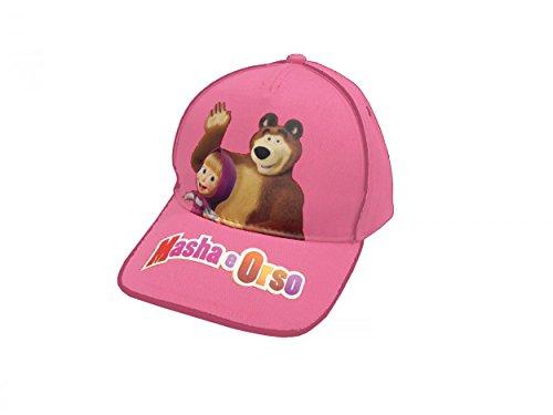 Bonnet avec visière Macha et l'ours 100% coton Rose