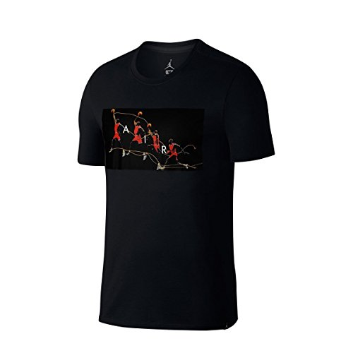 Jordan Dry Flight Photo Men's Shortsleeve T-Shirt Black/Red/White 878382-010 (Size M) by Jordan