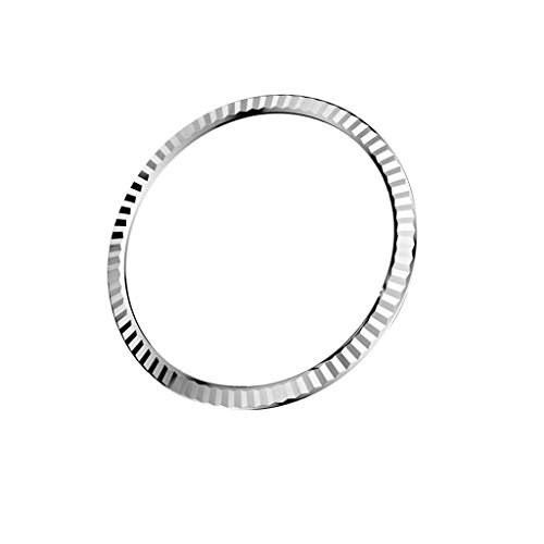 NOGOQU For Samsung Galaxy Watch 42MM Bezel Styling Ring Adhesive Cover Anti Scratch Stainless Steel (Silver)