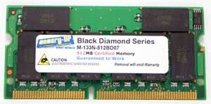 Memory-Up Exclusive 256MB SDRAM DIMM Upgrade for Dell Inspiron 5000 5000e 7500 8000 8000E Laptop PC100 Computer Memory (RAM)