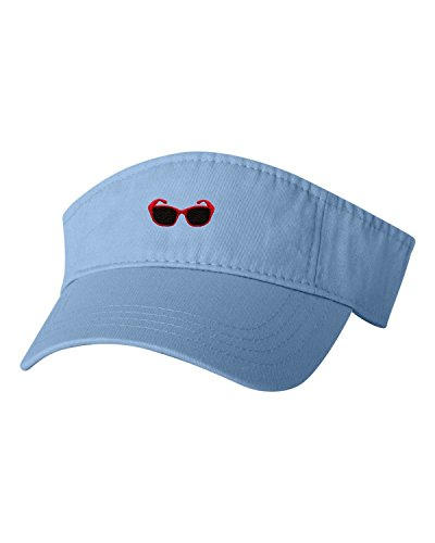 Adjustable Baby Blue Adult Red Sunglasses Embroidered Visor Dad - Embroidered Sunglasses