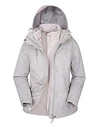 Mountain Warehouse Bracken Melange 3 in 1 Womens Waterproof Jacket Beige 6