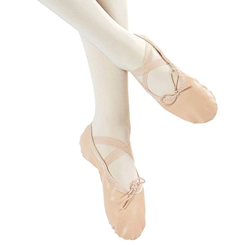 Danzcue Adult Split Sole Leather Ballet Dance Slipper Pink pfC7I