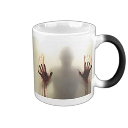Walker Heat Colour Changing Horrible Halloween Blood Zombie Coffee Mug Black Ceramic Tea Mug