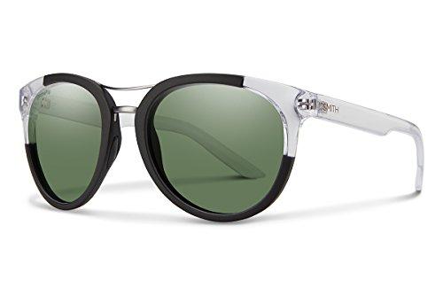 Smith Optics Bridgetown Chromapop Polarized Sunglasses, Matte Black Crystal Block, Gray Green