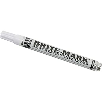 BRITE-MARK Medium Tip Paint Marker, White