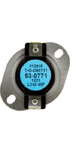 Whirlpool 53-0771 High Limit Thermostat for Dryer by Whirlpool (Image #1)