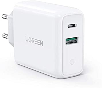 UGREEN 36W Cargador Pared con USB C Power Delivery 3.0 y USB QC ...