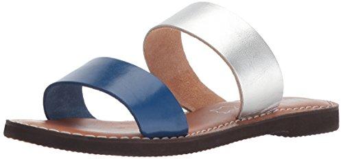 Sandalia Mia Mujeres Nila Slide Azul Marino / Plateado