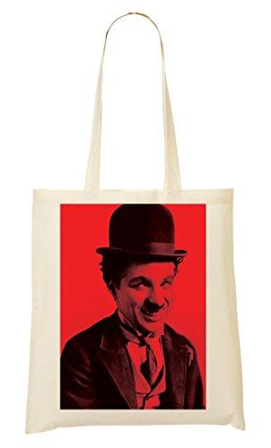 Charlie Chaplin Red Bolso De Mano Bolsa De La Compra