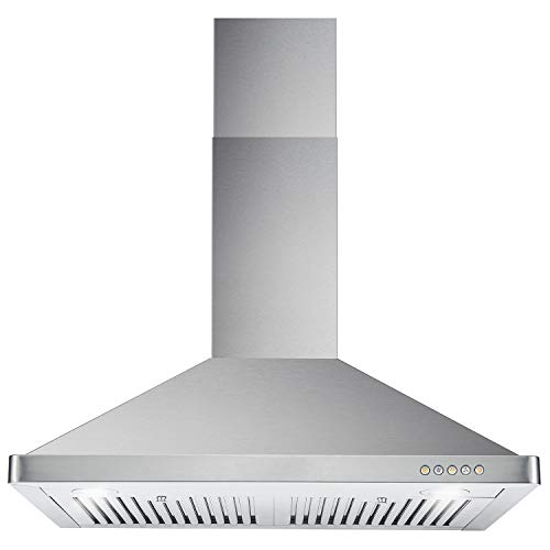 Cosmo 63175 30-in Wall-Mount Range Hood 760-CFM Ductless Convertible Duct