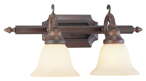 (Livex Lighting 1192-58 French Regency 2-Light Bath Light, Imperial Bronze)