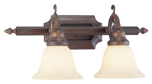 Livex Lighting 1192-58 French Regency 2-Light Bath Light, Imperial Bronze
