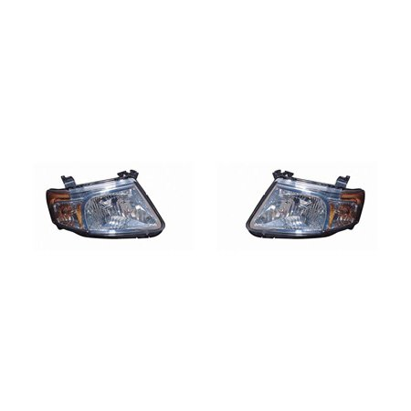 e Hybrid 2008-2011 Headlight Assembly Pair Driver and Passenger Side (Mazda Tribute Hybrid)