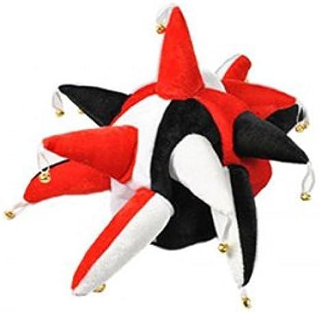 Rojo Blanco y negro Novedad Bufón Sombrero Para Disfraz Rugby ...