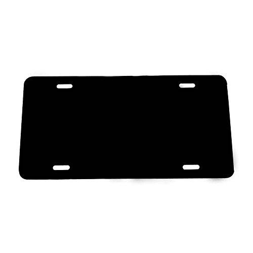 - LICENSEPLATETAGS.COM BLACK - Aluminum Blank License Plate - 12x6 .020 Gauge (0.5mm) Laser Cut - MADE IN USA