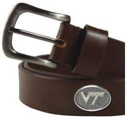 Virginia Tech Hokiesカジュアルブラウンレザーベルト