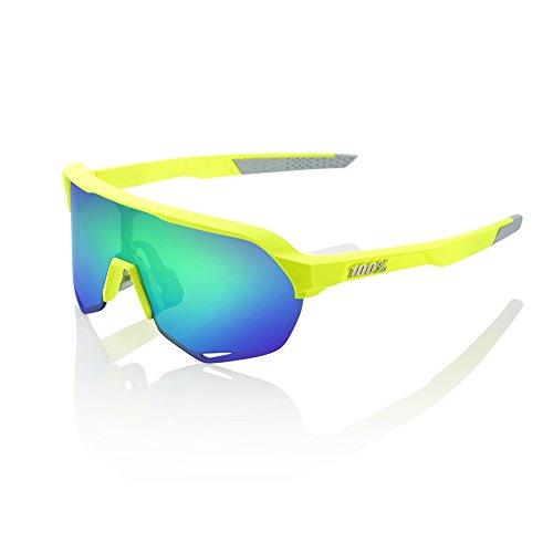 100% S2 Sunglasses-Matte Flo Yellow-Green Mirror]()