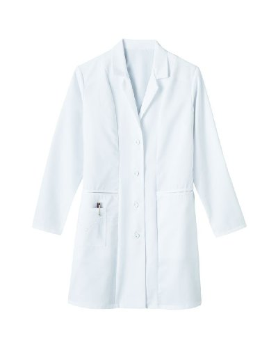 "Meta Labwear Women's Embroidered 36""; Lab Coat White from White Swan"