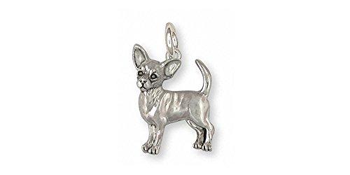 Chihuahua Jewelry Sterling Silver Chihuahua Chain Handmade Dog Jewelry CU17S-C
