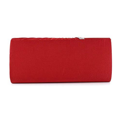 Envelope Crossbody Mini Bag Shoulder Bag Evening Rhinestone Red iShine Clutch Bridal Women's Bag Wedding vY1qWzRn