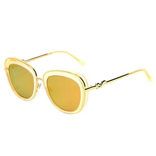 C Lunettes Miroir Grenouille marée Film N jaune Miroir Lunettes Femme colorées de jaune Soleil polarisées Mode Soleil cadre de Personnes q77Yxrpv