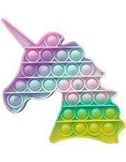 Brinquedo Pop It Unicórnio Cores Claras Anti Stress Sensorial Aumenta Criatividade [FIT IT]