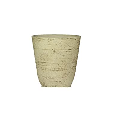 Stone Light Antique AT Series Cast Stone Planter (Pack of 2), 13.5 by 15 , Country White