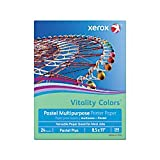 Xerox(R) Vitality Colors(TM) Pastel Plus Multipurpose Printer Paper, Letter Size, 24 Lb, 30% Recycled, Green, Ream of 500 Sheets