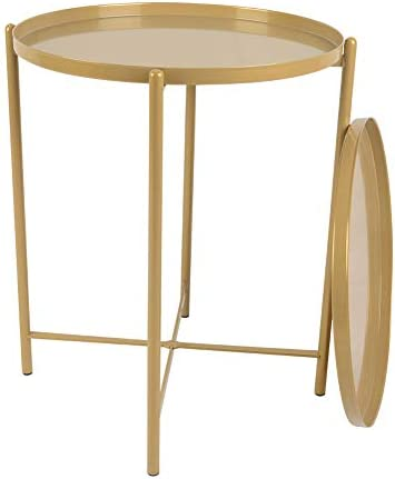 Round Metal Side End Table