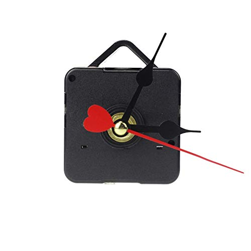 Quartz Clock Repair Replacement,Red Heart Hands Movement Mechanism Hands DIY Repair Replacement,Quartz Clock Parts ()