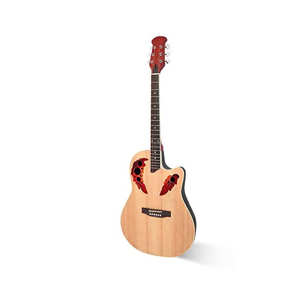 41 Inch Wood Guitar Kit Bundle – Guitar Beginner Wood Guitar Starter Kit Acoustic Guitar Classical Guitar Cutawary Round… 31xY 2BX0PLyL