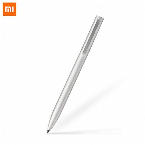 Xiaomi Fibest Original Mijia Sign Pen 9.5mm Signing Pen PREMEC Smooth Switzerland Refill MiKuni Japan Ink add Mijia Pen Black Refill (1 Pen ONLY) (Silver)