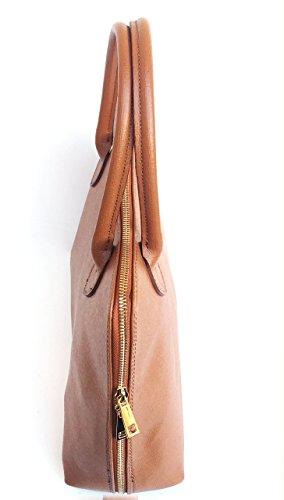 Fabriqué Italie Model SUPERFLYBAGS A4 CIRC cuir cognac en à Saffiano Sac Format en véritable main OwBHPO