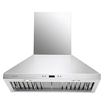 """CAVALIERE 30"""" Inch Range Hood Wall Mounted Stainless Steel Kitchen Vent 860 CFM"""