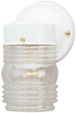 Westinghouse 6687800 White Jelly Jar Design Light Fixture