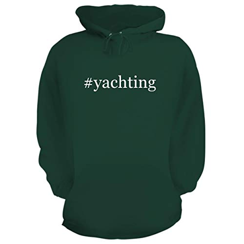 BH Cool Designs #Yachting - Graphic Hoodie Sweatshirt, Forest, Small ()