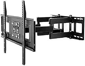 حامل شاشه كامل الحركه متوافق مع جميع الشاشات بلون الأسود متحرك حتى 55 بوصة