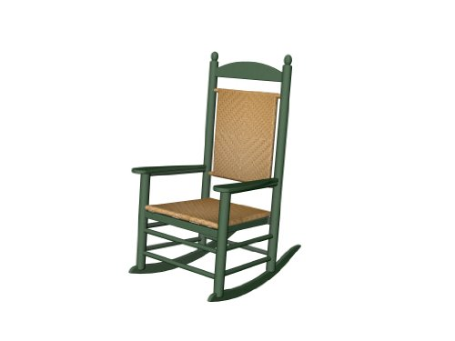 Recycled Plastic Jefferson Rocker (with woven seat and back)
