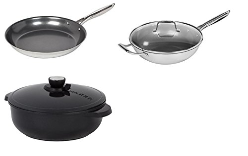 MAKER Homeware Skillet, Wok and Dutch Oven Combo by