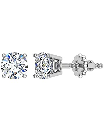f309bd74c 14K Gold Diamond Stud Earrings Tiny Second Hole Baby/Kids (J,I1)