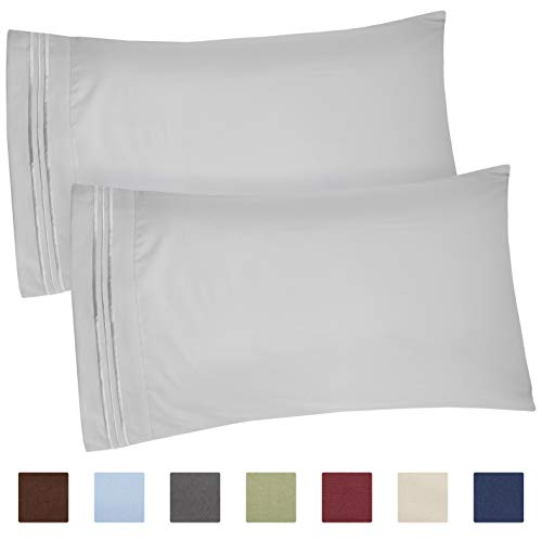 Queen Size Pillow Cases Set of 2 - Soft, Premium Quality Hypoallergenic Pillowcase Covers - Machine Washable Protectors - 20x40, 20x36 & 20x48 Pillows for Sleeping 2 Piece - Queen Size Pillow Case Set