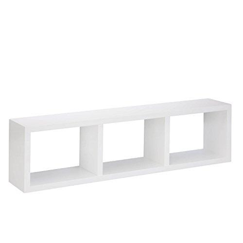 HoneyCanDo SHF-04411 White Triple Cube Wall Shelf